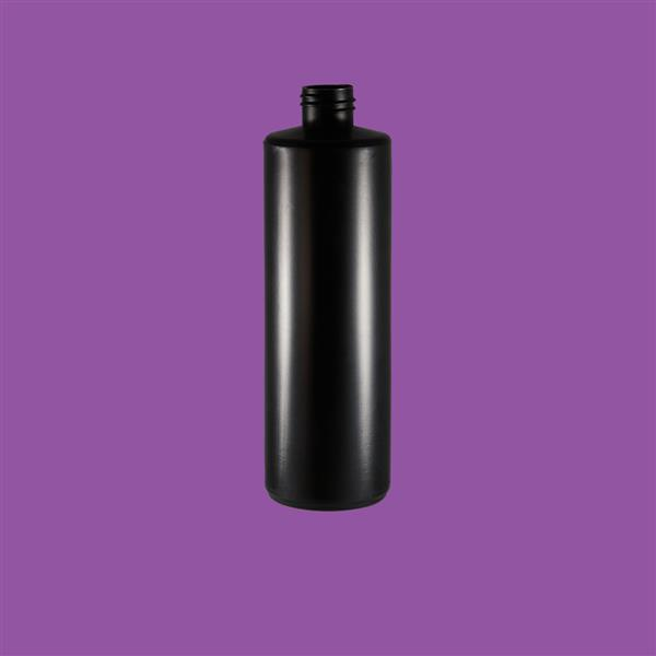 Bottle 500ml Cylinder HDPE Black 28mm