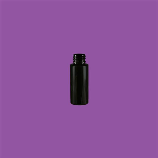 Bottle 30ml Tubular PET Black 20mm