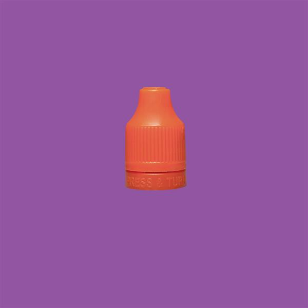 Cap 12mm Two Part Child Resistant Tamper Evident Orange