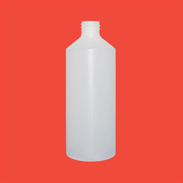 Bottle 500ml Fluorinated Swipe HDPE Natural 28mm