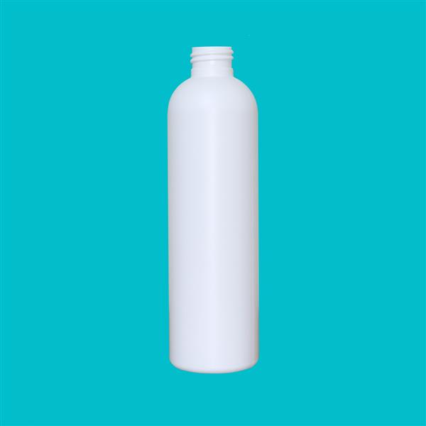 Bottle 250ml Tall Boston HDPE White 24mm