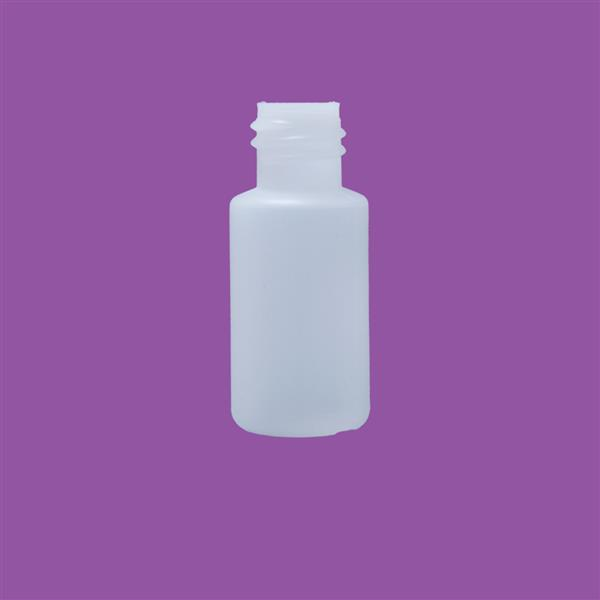 Bottle 15ml Cylinder HDPE Natural 18mm