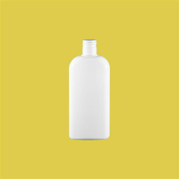 Bottle 250ml Oval PET White 24mm 415