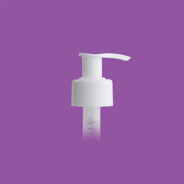 Lotion Pump 28mm 410 Smooth White