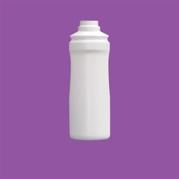 Bottle 100ml Oval HDPE White 20mm