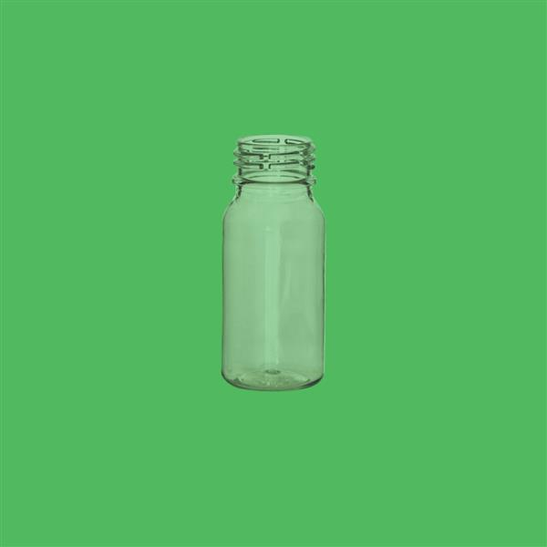 Bottle 50ml Boston Round PET Clear 28mm