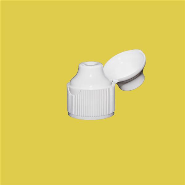 Cap 23mm Flip Top Pointed Cap White