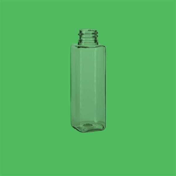 Bottle 50ml Square PET Clear 20mm