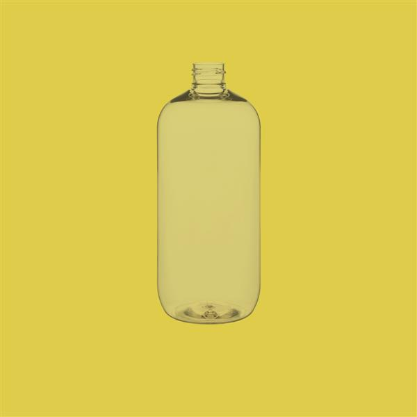 Bottle 500ml Tall Boston Round PET Clear 24mm