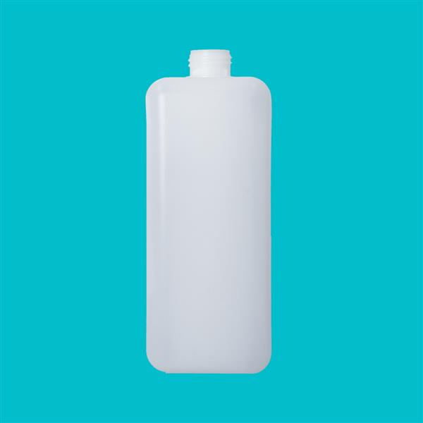 Bottle 2000ml Rectangular HDPE Natural 38mm