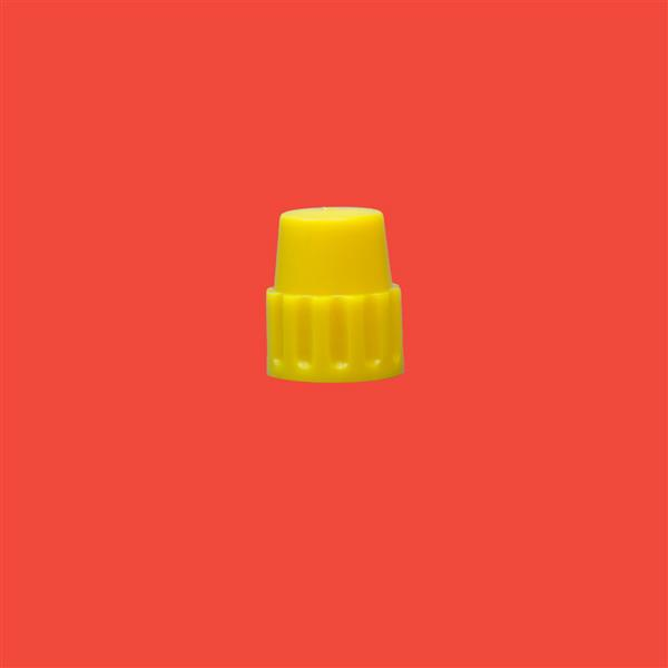 Cap 18mm Pointed Cap Yellow