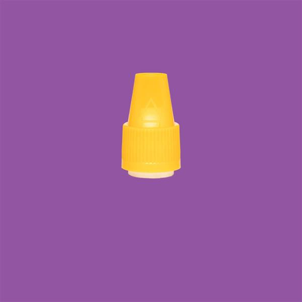 Cap 12mm Two Part Bericap Child Resistant Tamper Evident Yellow