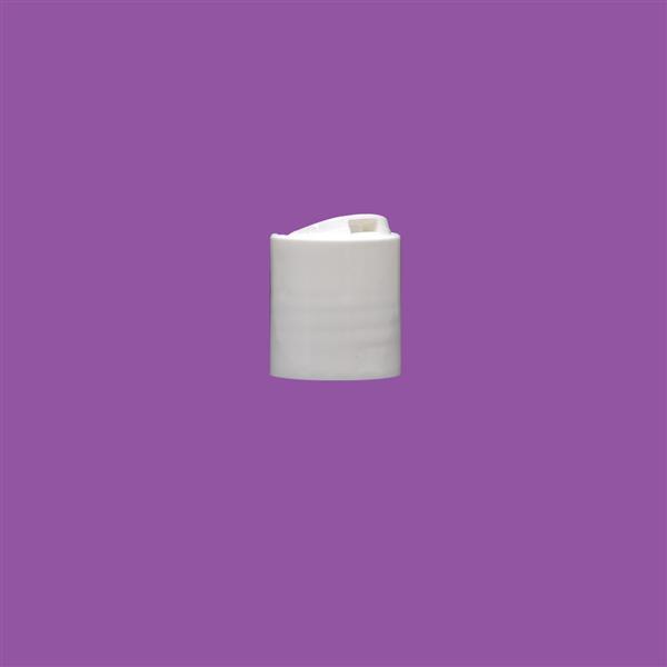 Cap 20mm Disc Top White