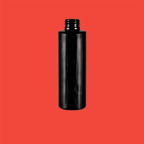 Bottle 150ml Tubular PET Black 24mm
