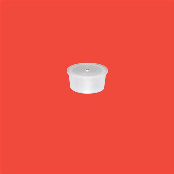 One Hole Plug 20mm LDPE Natural