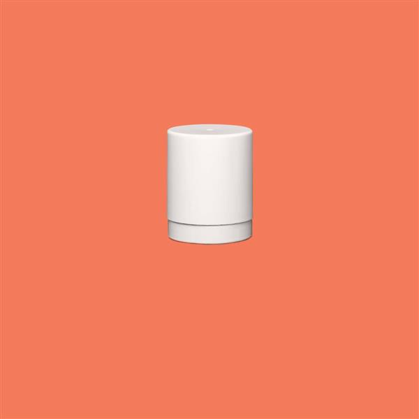 Cap 23mm Two Part Tamper Evident Child Resistant Snap On Smooth White (Husky Bottle)