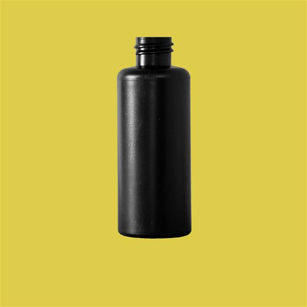 Bottle 65ml Bore Seal HDPE Black 20mm