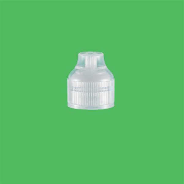 Cap 23mm Two Part Tamper Evident Child Resistant e-Flip Pointed Cap Natural
