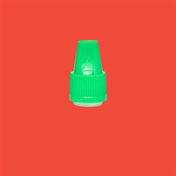 Cap 12mm Two Part Bericap Child Resistant Tamper Evident Green