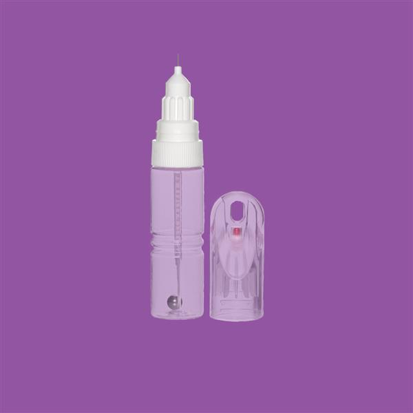 Bottle 12ml PET Clear Brush & Pin with Over Cap