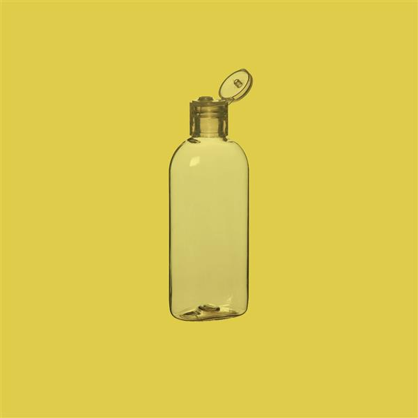 Dispensing 100ml PET Clear Oval Bottle with Natural Flip Top Cap