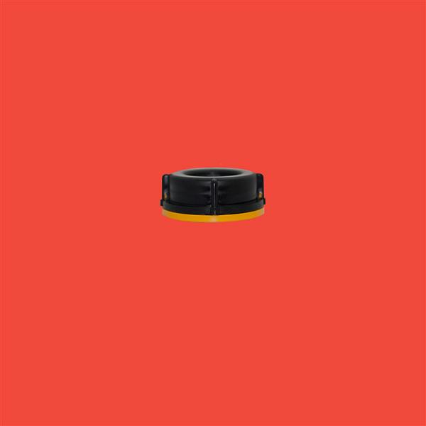 Cap 51mm 410 Tamper Evident Black Yellow Trim