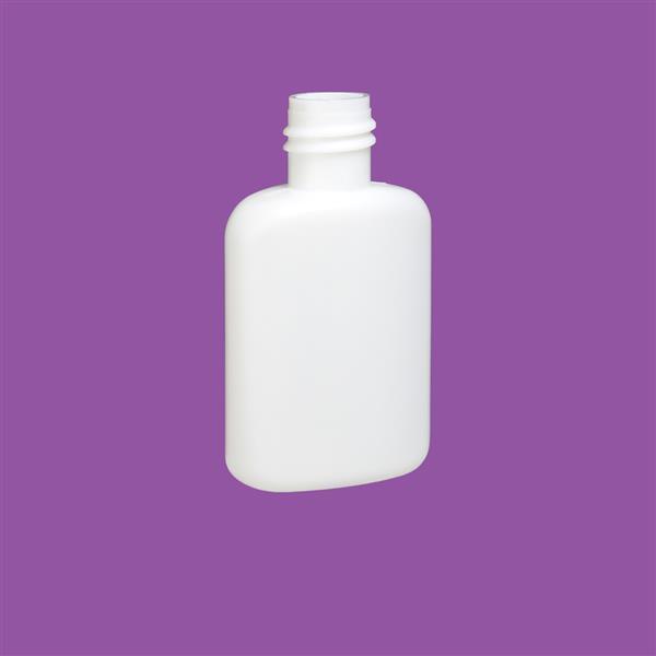 Bottle 30ml Oval HDPE White 18mm