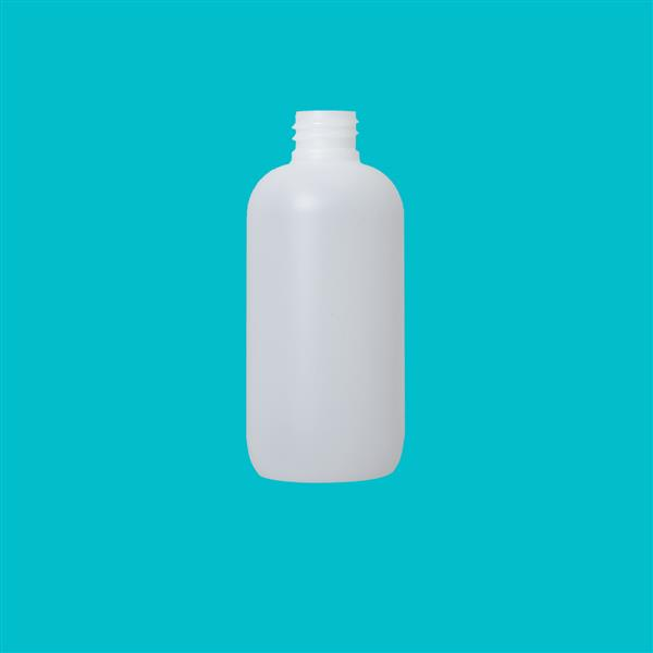 Bottle 100ml Fluorinated Boston Round HDPE Natural 20mm