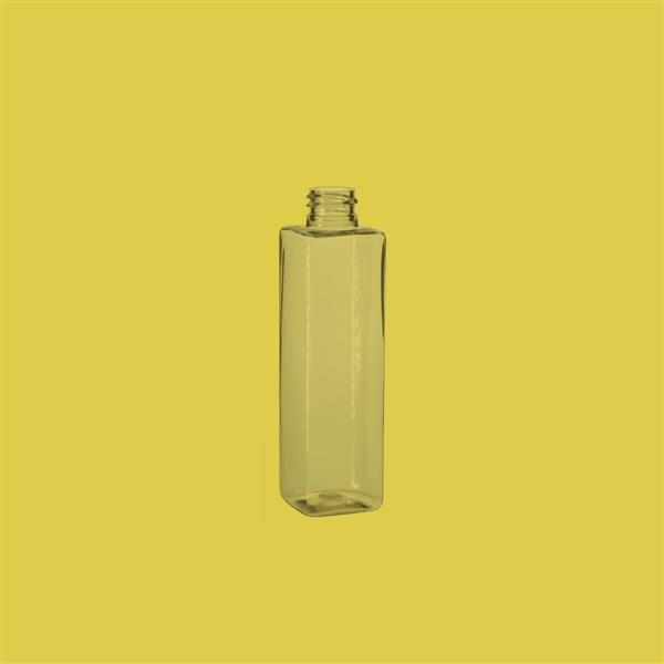 Bottle 100ml Square PET Clear 20mm