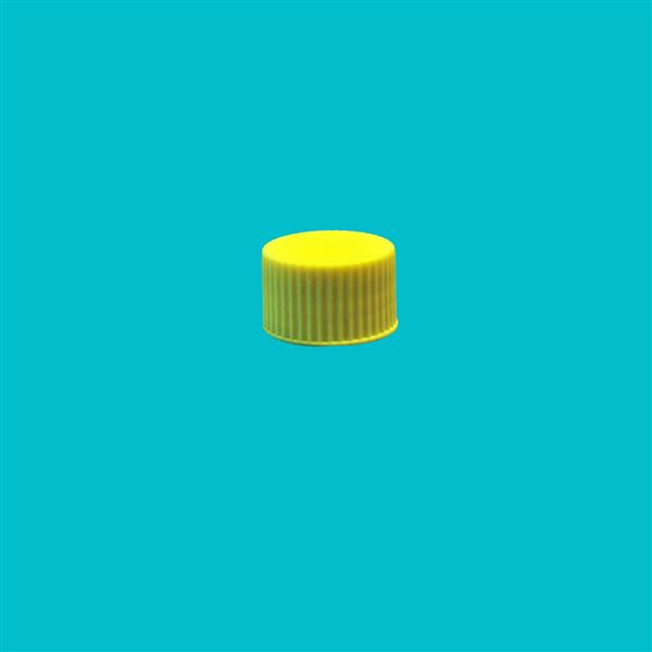 Cap 28mm Ribbed Wadded Yellow