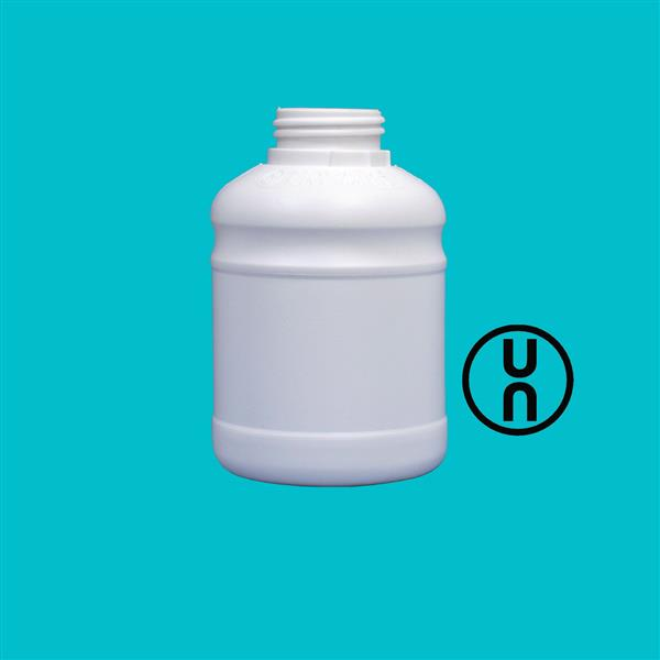 Bottle 500ml UN Tamper Evident White 42mm