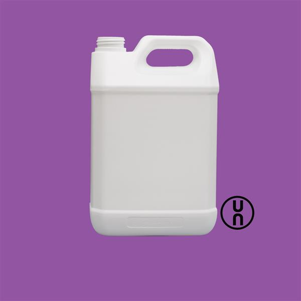 Jerrycan 5000ml UN Tamper Evident Fluorinated HDPE White 42mm