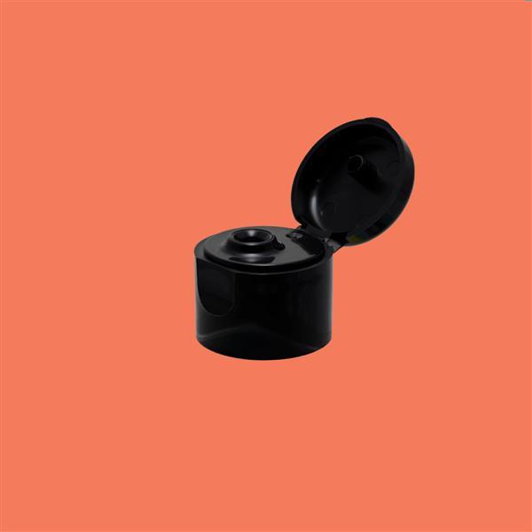 Cap 20mm Flip Top Smooth Black