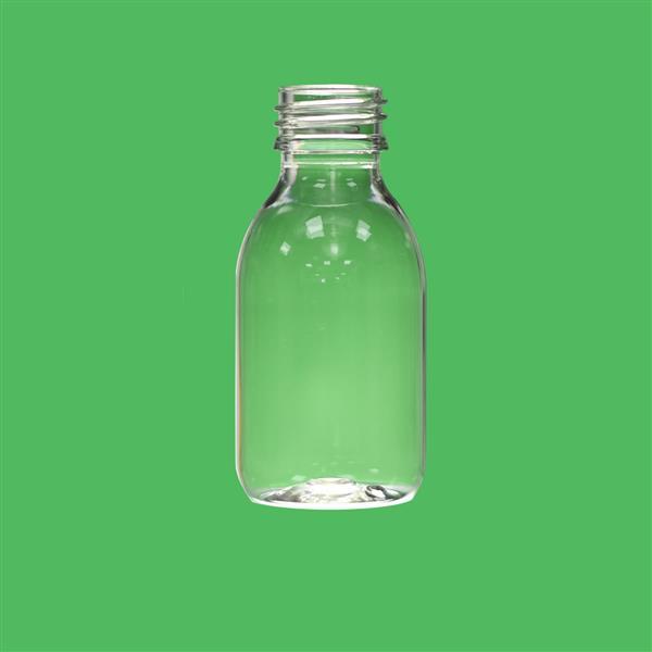 Bottle 100ml Sirop Roll On Pilfer Proof PET Clear 28mm