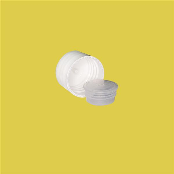 Cap 24mm One Hole Plug Two Part Cap White
