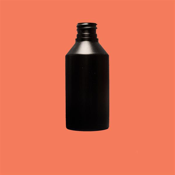 Bottle 100ml Swipe HDPE Black 20mm