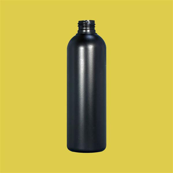 Bottle 250ml Tall Boston HDPE Black 24mm