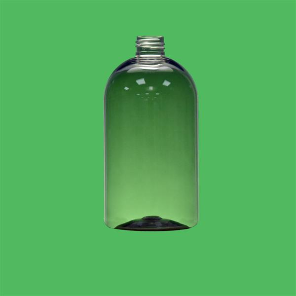 Bottle 500ml Boston Round PET Clear 24mm