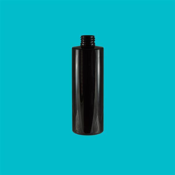Bottle 250ml Tubular PET Black 24mm