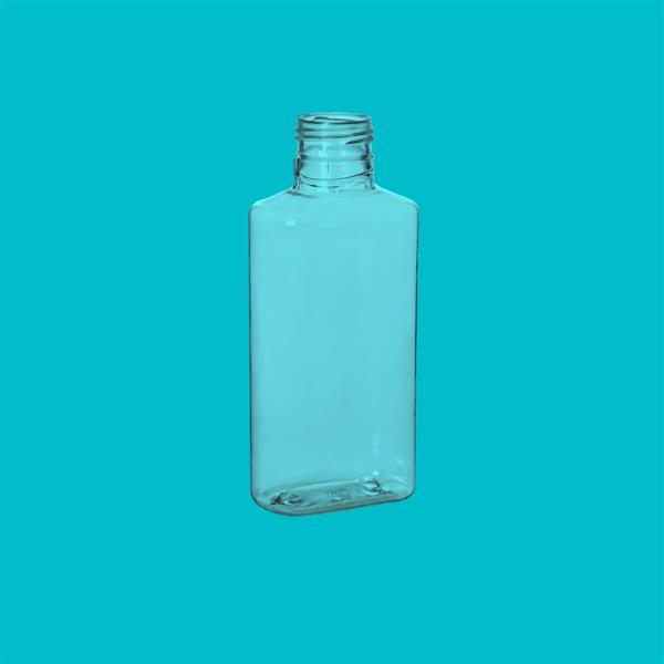 Bottle 100ml Oval PETg Clear 23mm