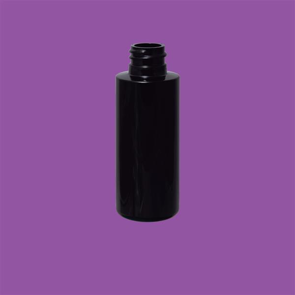 Bottle 50ml Tubular PET Black 20mm
