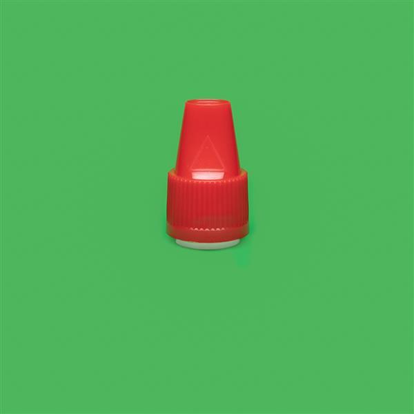 Cap 12mm Two Part Bericap Child Resistant Tamper Evident Red