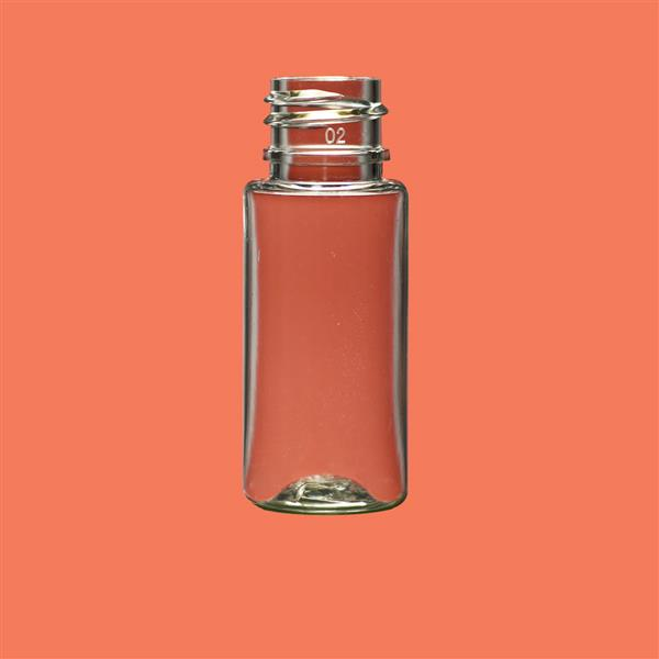 Bottle 15ml Cylinder PET Clear 18mm