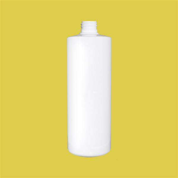 Bottle 500ml Tubular PET White 24mm