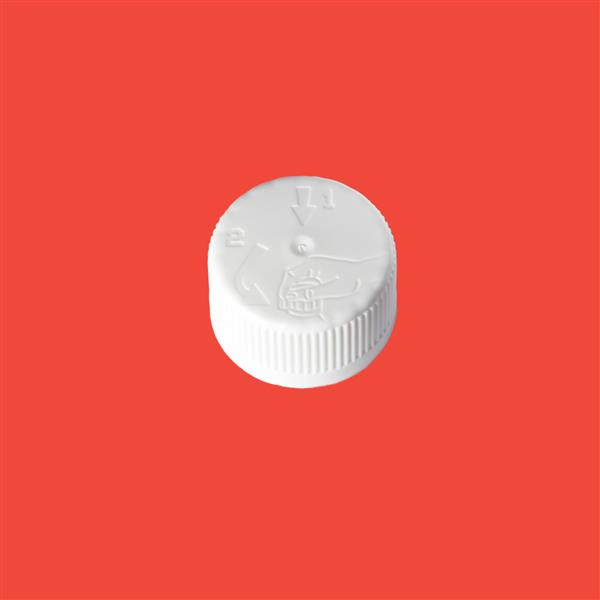 Cap 24mm 410 Child Resistant White