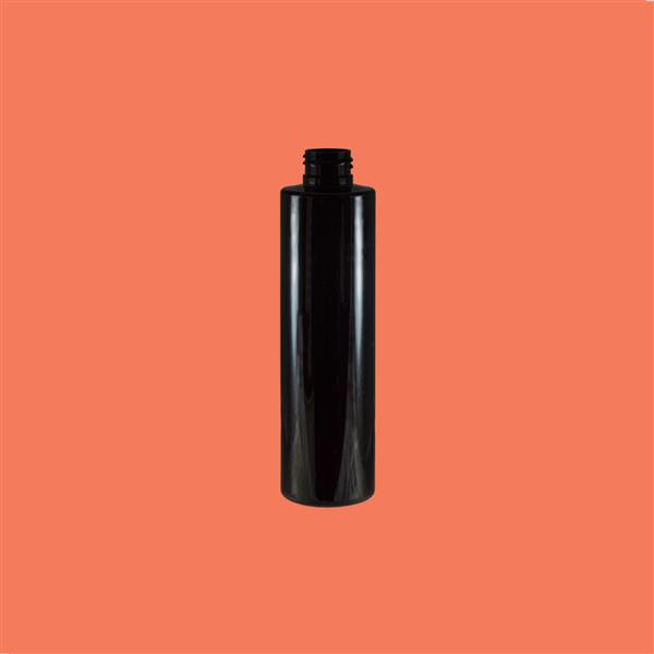 Bottle 200ml Tall Tubular PET Black 24mm