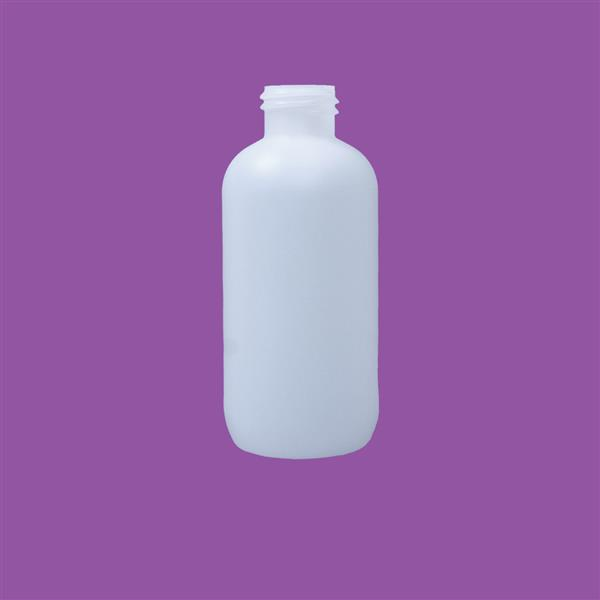 Bottle 125ml Fluorinated Boston Round HDPE Natural 24mm