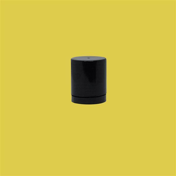 Cap 23mm Two Part Tamper Evident Child Resistant Snap On Smooth Black (Husky Bottle)