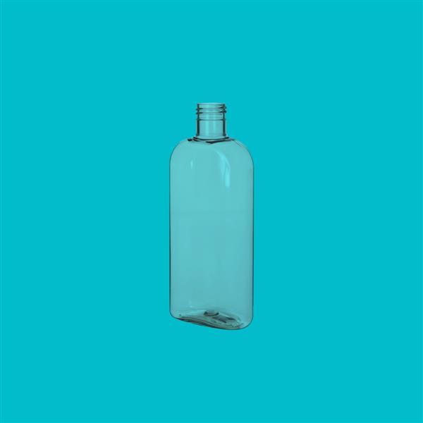 Bottle 250ml Oval PET Clear 24mm 415