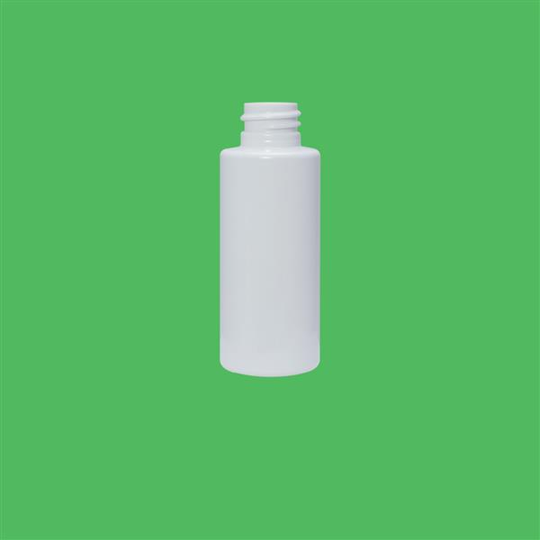 Bottle 50ml Tubular PET White 20mm